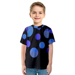 Blue circles  Kid s Sport Mesh Tee