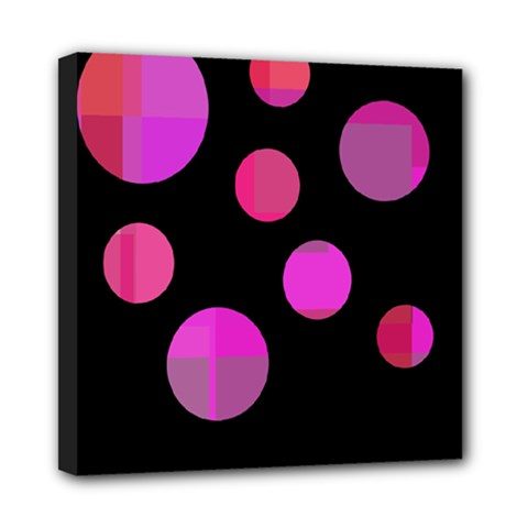 Pink abstraction Mini Canvas 8  x 8