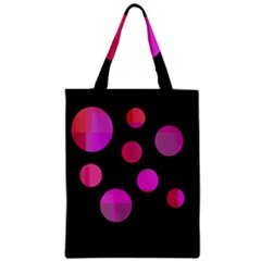 Pink abstraction Zipper Classic Tote Bag