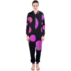 Pink abstraction Hooded Jumpsuit (Ladies)
