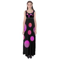 Pink abstraction Empire Waist Maxi Dress