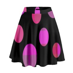 Pink Abstraction High Waist Skirt