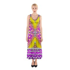 Music Tribute In The Sun Peace And Popart Sleeveless Maxi Dress