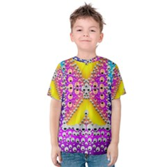 Music Tribute In The Sun Peace And Popart Kid s Cotton Tee