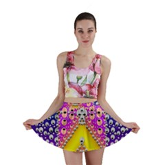 Music Tribute In The Sun Peace And Popart Mini Skirt