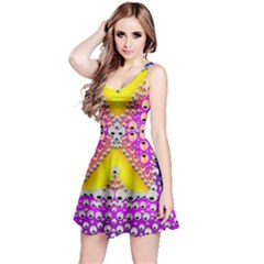 Music Tribute In The Sun Peace And Popart Reversible Sleeveless Dress