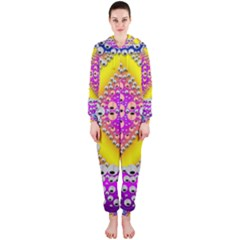 Music Tribute In The Sun Peace And Popart Hooded Jumpsuit (ladies)