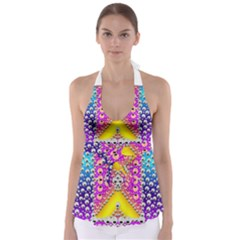 Music Tribute In The Sun Peace And Popart Babydoll Tankini Top