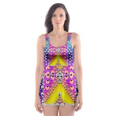 Music Tribute In The Sun Peace And Popart Skater Dress Swimsuit