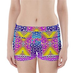 Music Tribute In The Sun Peace And Popart Boyleg Bikini Wrap Bottoms