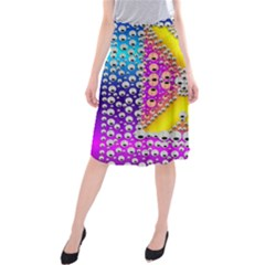 Music Tribute In The Sun Peace And Popart Midi Beach Skirt