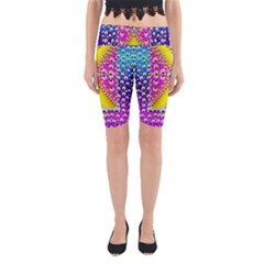 Music Tribute In The Sun Peace And Popart Yoga Cropped Leggings