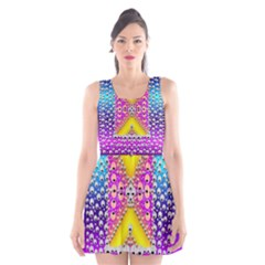 Music Tribute In The Sun Peace And Popart Scoop Neck Skater Dress