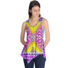 Music Tribute In The Sun Peace And Popart Sleeveless Tunic