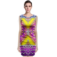 Music Tribute In The Sun Peace And Popart Classic Sleeveless Midi Dress