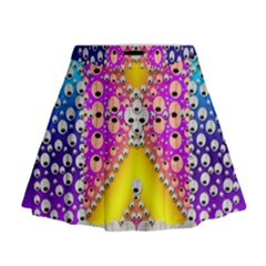 Music Tribute In The Sun Peace And Popart Mini Flare Skirt
