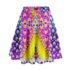 Music Tribute In The Sun Peace And Popart High Waist Skirt