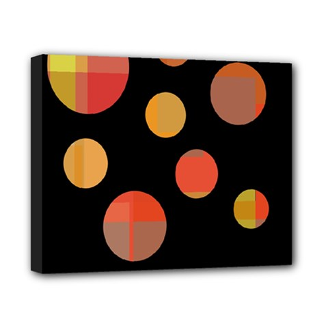 Orange abstraction Canvas 10  x 8