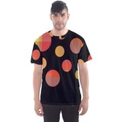 Orange abstraction Men s Sport Mesh Tee