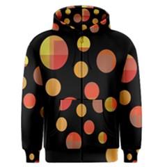 Orange abstraction Men s Zipper Hoodie