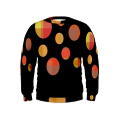 Orange abstraction Kids  Sweatshirt