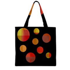 Orange abstraction Zipper Grocery Tote Bag