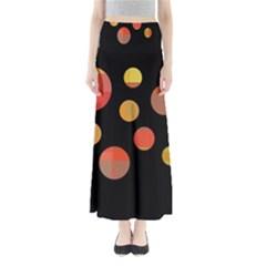 Orange abstraction Maxi Skirts
