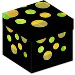 Green abstract circles Storage Stool 12