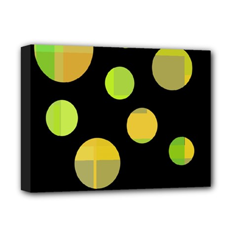 Green abstract circles Deluxe Canvas 16  x 12