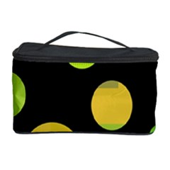 Green abstract circles Cosmetic Storage Case