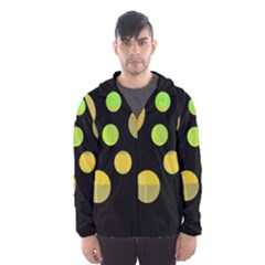 Green abstract circles Hooded Wind Breaker (Men)