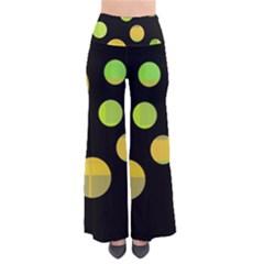 Green Abstract Circles Pants