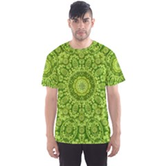 Magic Flowers In  The Deep Valley Of Paradise Men s Sport Mesh Tee