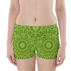 Magic Flowers In  The Deep Valley Of Paradise Boyleg Bikini Wrap Bottoms