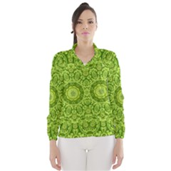 Magic Flowers In  The Deep Valley Of Paradise Wind Breaker (women)
