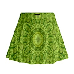 Magic Flowers In  The Deep Valley Of Paradise Mini Flare Skirt