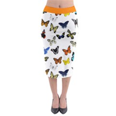 Butterfly Collection 10 Midi Skirt Midi Pencil Skirt