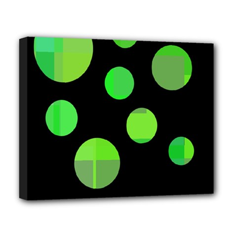 Green circles Deluxe Canvas 20  x 16