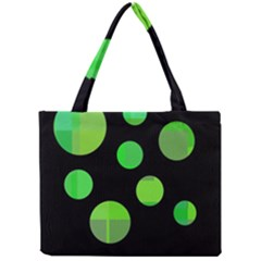 Green circles Mini Tote Bag