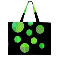 Green circles Large Tote Bag