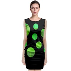 Green Circles Classic Sleeveless Midi Dress