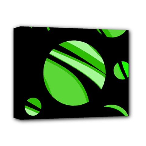 Green balls   Deluxe Canvas 14  x 11
