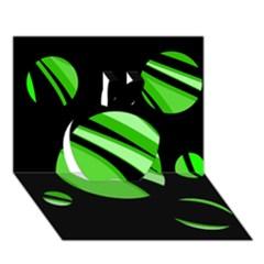 Green Balls   Apple 3d Greeting Card (7x5)
