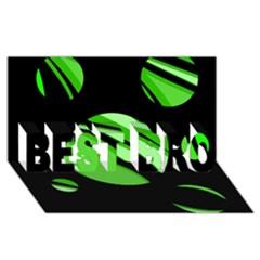 Green balls   BEST BRO 3D Greeting Card (8x4)