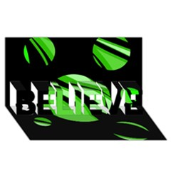 Green balls   BELIEVE 3D Greeting Card (8x4)