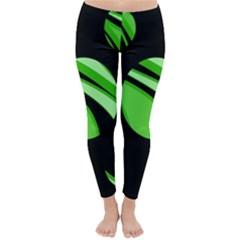 Green balls   Winter Leggings