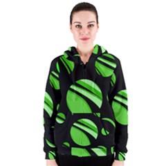 Green balls   Women s Zipper Hoodie