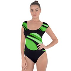 Green balls   Short Sleeve Leotard