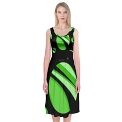 Green Balls   Midi Sleeveless Dress