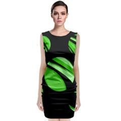 Green Balls   Classic Sleeveless Midi Dress